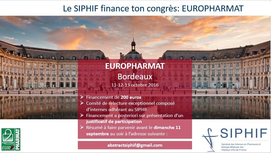Financement SIPHIF Europharmat 2016